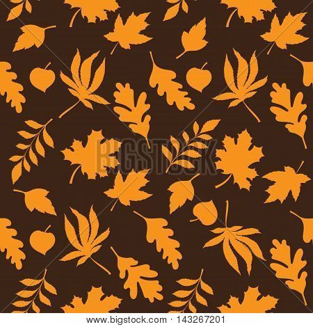 Seamless leaves pattern can be used for wallpaper, website background, wrapping paper. Autumn bright pattern. Leaf design.
