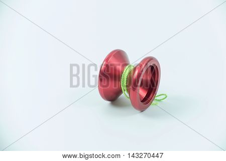 red toy yo yo isolated on white background