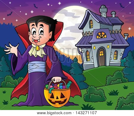 Halloween vampire theme image 9 - eps10 vector illustration.
