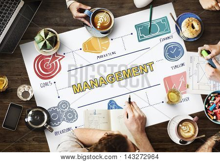 Management Business Coaching Process Strategy Concept
