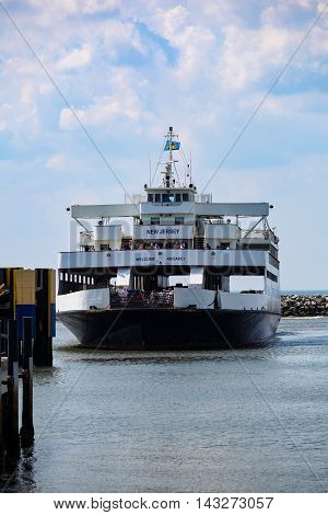 Cape May - Lewes Ferry Boat Approaches Dock