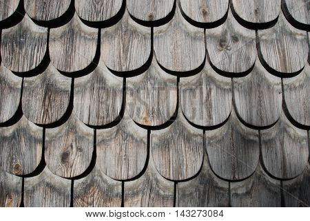 Traditional wood shingle wall, background and texture