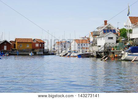 Village on the Swedish west coast, travel Sweden