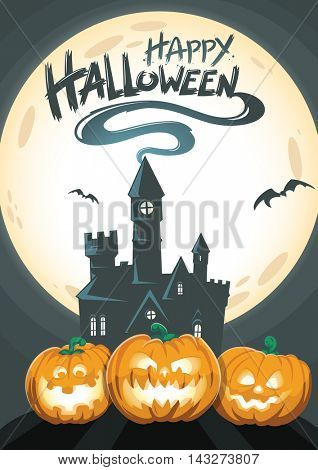 Happy Halloween Greeting Card Invite or Flyer