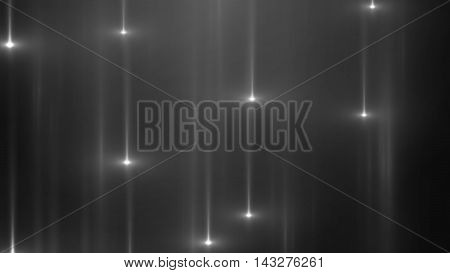 3d render abstract background with vertical light lines and flares. Background with white lines in motion darks tones could be useful as a frame or a texture. Blurred light lines with flares. 3D illustration.