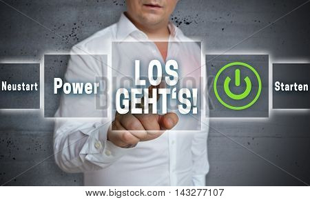 Los Gehts (in German Here We Go Start Reboot) Touchscreen Concept Background