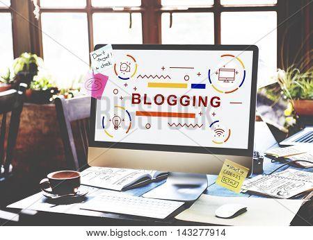 Blogging Blog Homepage Internet Concept