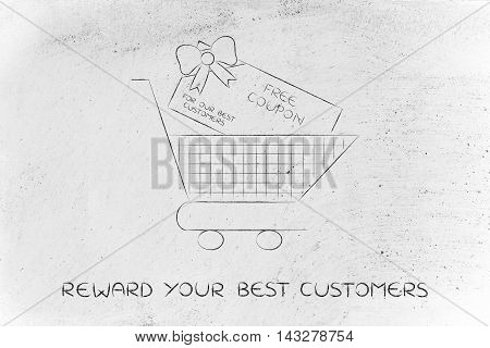 Shopping Cart With Huge Free Coupon