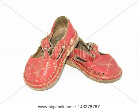 summer children's shoes on a white background