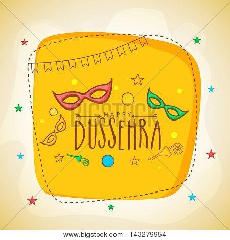 Stylish Poster, Banner or Flyer design for Indian Festival, Happy Dussehra celebration.
