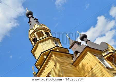 The Bell Tower Of The Church Of The Holy Apostles Peter And Paul