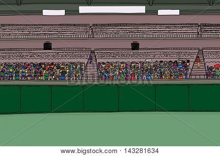 Large Group Of Spectators In Stadium