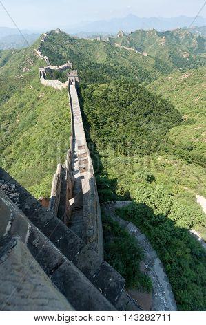 The Great Wall of China near JinShanLing Miyun District Hebei China.