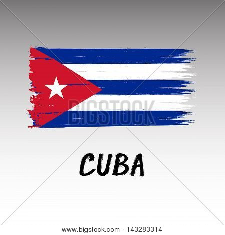 Flag Of Cuba  - Color Grunge Icon