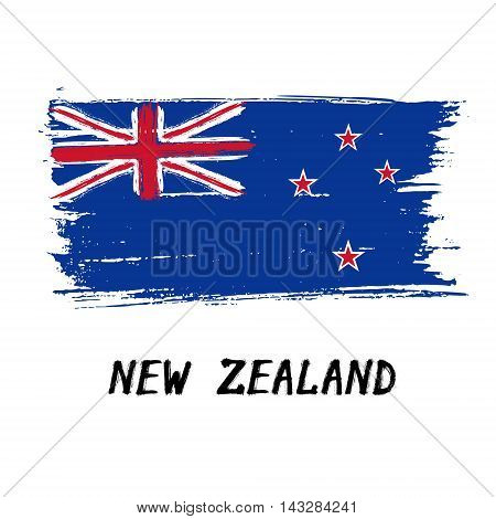 Flag Of New Zealand  - Color Grunge Icon