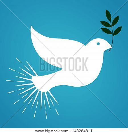 International Day Of Peace. Vintage And Retro Dove Design. Vector Illustration.