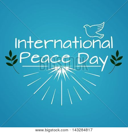 International Day Of Peace. Vintage And Retro Typographic Design. Vector Illustration.