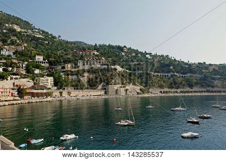 A beutiful view of Villefranche in FRANCE.