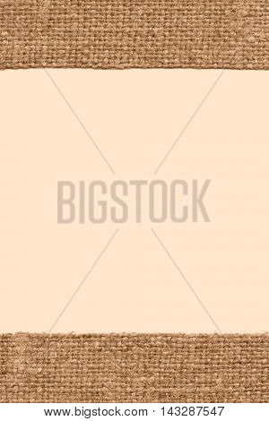 Textile sack, fabric burlap, brown canvas, grained material close-up background