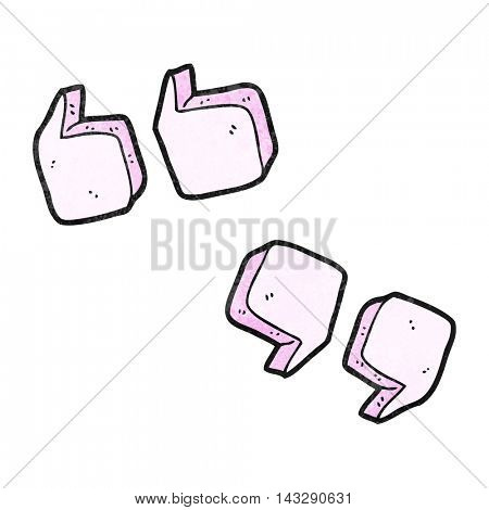 freehand textured cartoon quotation marks
