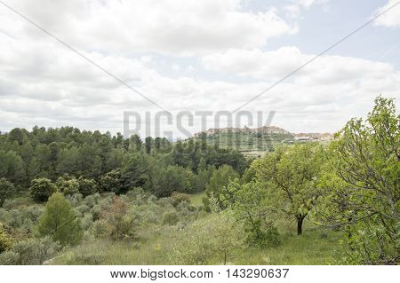 Landscape Horta de Sant Joan in Tarragona, Catalonia, Spain