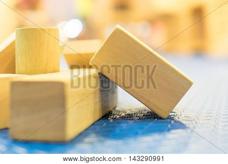 Wooden Blank Toy Block for children education and entertainment. There is a space on a Toy block that can be use for texting and wood craving.