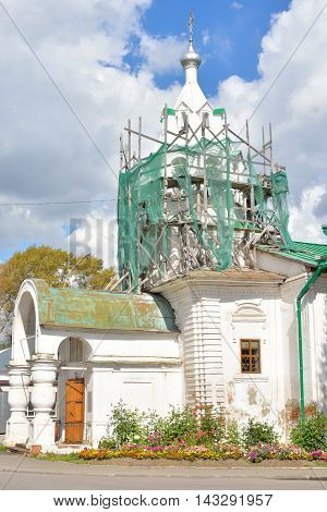 Old church in historical part of Vologda Russia.