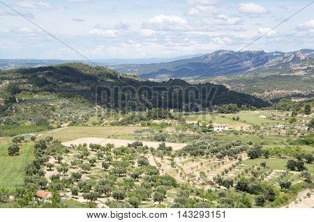 Landscape from Horta de Sant Joan in Tarragona, Catalonia, Spain