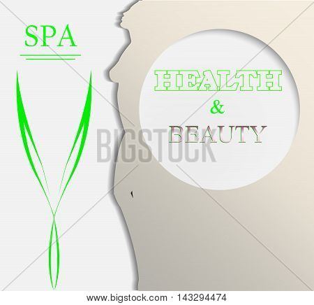 Abstract design concept for spa, cosmetic, beauty salon
