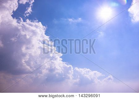 Blue sky with clouds and natural light of the day