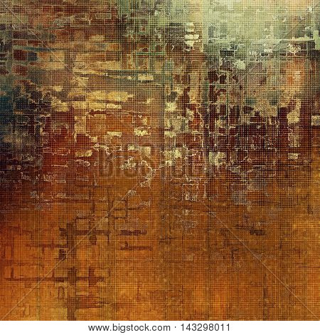 Old crumpled grunge background or ancient texture. With different color patterns: yellow (beige); brown; green; red (orange); gray