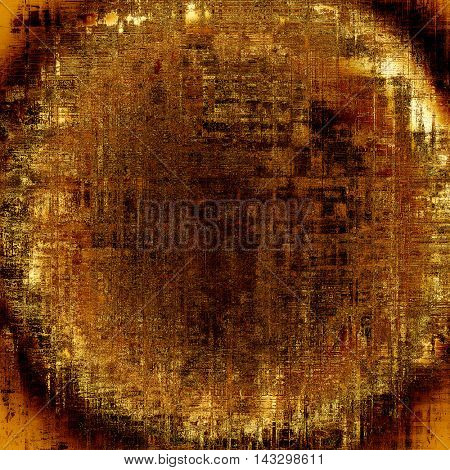 Spherical aged textured background, macro closeup grungy backdrop with different color patterns: yellow (beige); brown; black; red (orange)