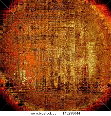 Spherical ancient textured background or shabby backdrop. With different color patterns: yellow (beige); brown; black; red (orange)