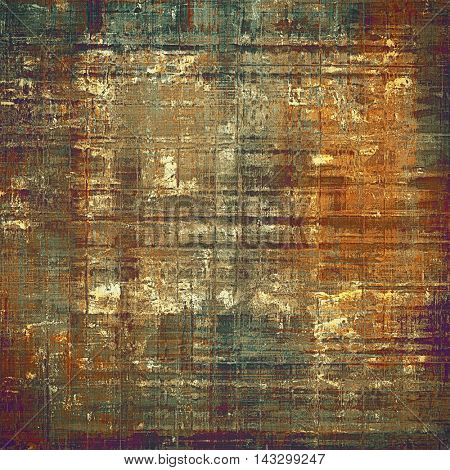 Vintage decorative texture with grunge design elements and different color patterns: yellow (beige); brown; green; red (orange); purple (violet); gray