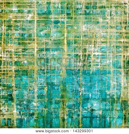 Aged vintage background with weathered texture, grunge design elements and different color patterns: yellow (beige); brown; green; blue; gray; cyan