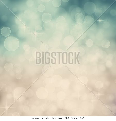 Abstract Twinkled Background with Stars. Blurred Bokeh Background