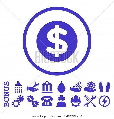 Finance glyph icon. Image style is a flat pictogram symbol inside a circle, violet color, white background. Bonus images are included.