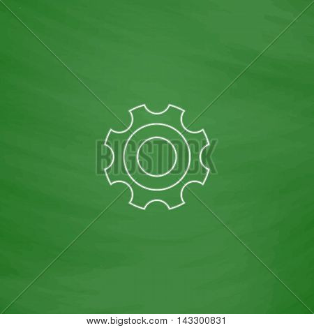 Bearing Outline vector icon. Imitation draw with white chalk on green chalkboard. Flat Pictogram and School board background. Illustration symbol