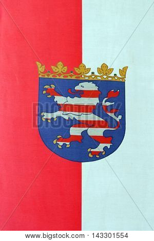 State flag of the province Hesse Germany.