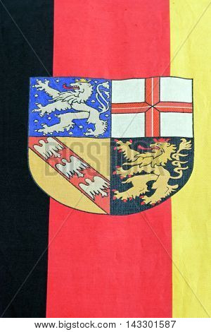 Detail from the Flag of the state Saarland Germany.