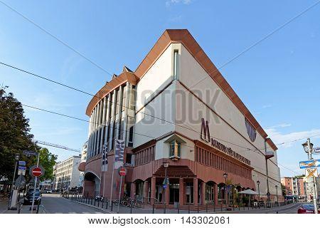 FRANKFURT AM MAIN GERMANY - AUGUST 7 2015: Museum of Modern Art called