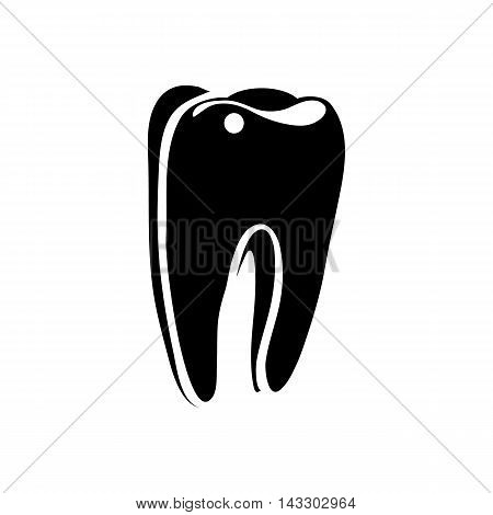 Tooth icon in simple style on a white background