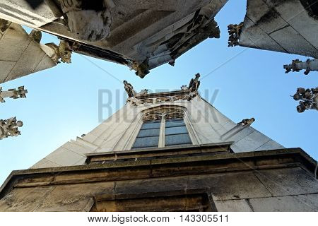 New Town Hall in Munich Germany seen from below
