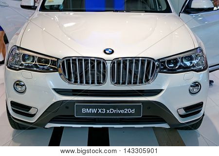 MUNICH GERMANY - 4 AUGUST 2015: BMW x3 at the BMW Welt a customer experience and exhibition facility of the BMW AG Munich Germany