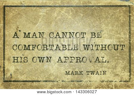 Own Approval Twain