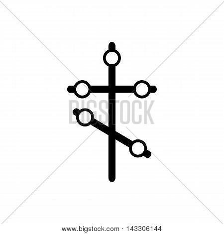 Orthodox cross icon in simple style on a white background