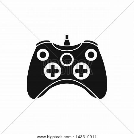 Video game controller icon in simple style on a white background