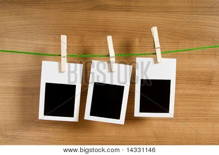 Concepto de diseño - marcos de fotos en blanco para tus fotos