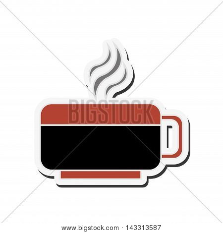flat design hot cup icon vector illustration