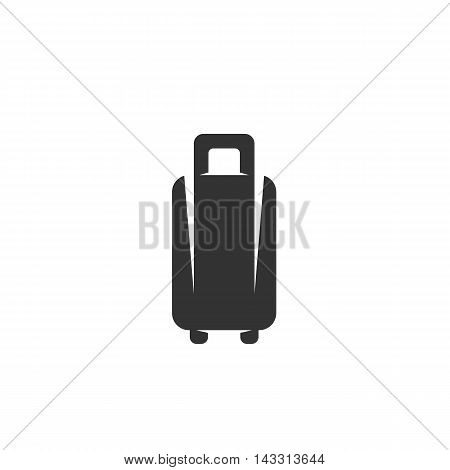 Baggage logo silhouette design template isolated on a white background. Simple concept icon for web, mobile and infographics. Abstract symbol, sign, pictogram, illustration - stock vector
